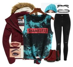 """shameless"" by beaniesandbowties ❤ liked on Polyvore featuring Superdry, River Island, Ace and Smashbox"