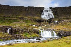 Dynjandi Westfjords. You can follow the hiking trail all the way to the top of Dynjandi. It's not a very strenuous hike and should only take around 90 minutes round trip, though allow plenty of time for all the photo ops at this stunning waterfall.