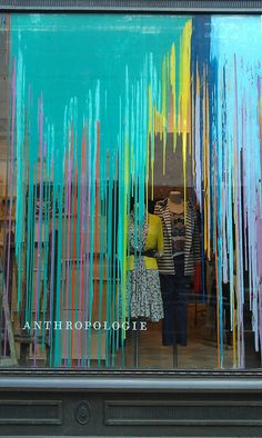 A love of visual merchandising: anthropologie get a paint job set tasarımı, Window Display Design, Store Window Displays, Retail Displays, Display Windows, Visual Merchandising Displays, Vitrine Design, Retail Windows, Shop Windows, Front Windows