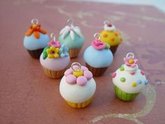 Items similar to Polymer Clay Cupcake Charm. Vanilla Cupcake and Sprinkles Pendant on Etsy Polymer Clay Cupcake, Fimo Clay, Polymer Clay Projects, Polymer Clay Charms, Polymer Clay Art, Polymer Clay Jewelry, Clay Crafts, Polymer Clay Miniatures, Polymer Clay Creations