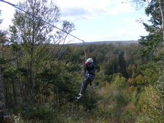 Nova Scotia's and only zipline - Monster Line is feet long and 240 feet high, then a second line at 900 feet long arox. 190 feet above ground. Zipline Adventure, Cabot Trail, Nova Scotia, Anchors, Day Trips, Tours, Mountains, Travel, Cow