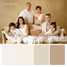 Family Portrait Palette {classic neutral} by Ken Smith Photography