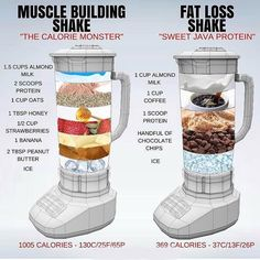 🔥 MUSCLE BUILDING vs FAT LOSS 🔥 ⠀ I touched on Protein Shakes in a post last week, but this is a really great visual by showing just how easy it is to tailor a Shake to fit your daily health goals. ⠀ Shakes are not needed BUT they Healthy Weight Gain, Quick Weight Loss Tips, How To Lose Weight Fast, Losing Weight, Weight Gain Meals, Reduce Weight, Weight Gain Plan, Rapid Weight Loss, Lose Fat