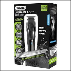 Buy Wahl Aqua Blade Wet/Dry Stubble & Beard Trimmer, Black from our Beard & Stubble Trimmers range at John Lewis & Partners. Beard Styles For Men, Hair And Beard Styles, Beard Clippers, Stubble Beard, Beard Butter, Awesome Beards, Beard Balm