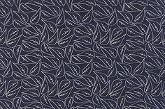 Stoffe gemustert - Moda Valley Fallen Leaves Navy, Art: , Motiv: B... - ein Designerstück von stil-bluete bei DaWanda