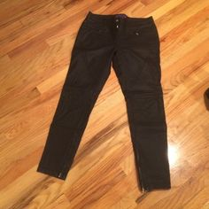 Faux Leather pants Faux Black leather pants from forever 21 Forever 21 Pants