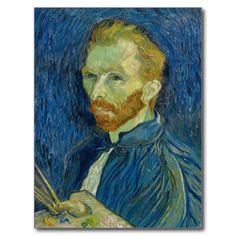 Self Portrait by Vincent Van Gogh 1889 Postcard