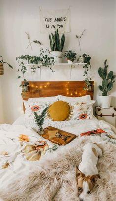 #scandinavian #scandinaviandesign #scandi #bohemian #bohemiandecor #bohemianbedroom #boheme #bedroom #bedroomdesign #bedroomdecorideas #bedroominspo #bohobedroom #bohohomedecor #bohohome #bohohomedecor Cute Bedroom Ideas, Cute Room Decor, Room Ideas Bedroom, Awesome Bedrooms, Diy Bedroom Decor, Bed Room, Bedroom Inspo, Bedroom Furniture, Bedroom Designs