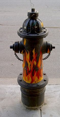 flaming hydrant.