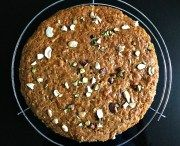 Super moist carrot and apple cakestudded with nuts and made with whole wheat flour (totally egg free)! This cake is so rich and moist; you will love enjoying these fluffy and soft slices all day long! They are perfect...