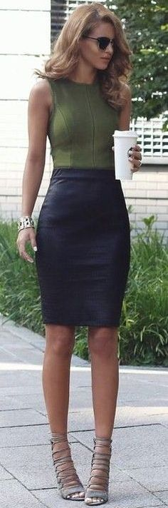 #summer #popular #outfits   Khaki + Black