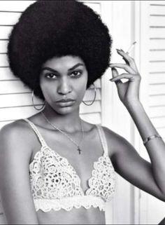 Afro, vintage, lace
