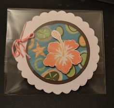 Cricut card using CTMH Footloose Paper and Baker's twine