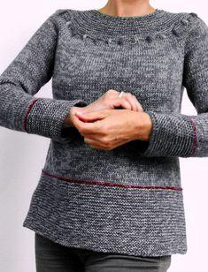 Вязаный женский пуловер реглан Pepper, Salt and Chili (Перчик, Соль и Чили) от дизайнера von Hinterm Stein.