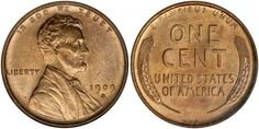Obverse and reverse of a '1909-S VDB' penny, from the San Francisco Mint. Brenner's initials can be seen in the bottom center of the reverse.