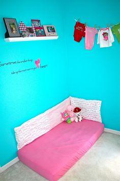 DIY Montessori Style Floor Bed Bumper