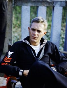 Steve McQueen on the set of The Sand Pebbles.