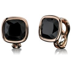 These Black Spinel Stud Earring swere created by Angelina Jolie and Robert Procop.  The dramatic faceting of the pure black gems is displayed in a sensuous setting of warm red gold that encircles the spinels in a sumptuous expression of timeless beauty. Each gem is a natural black spinel faceted like the classic cushion shape diamond.