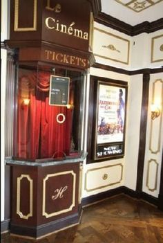 home theater entrance with ticket booth - Bing Images