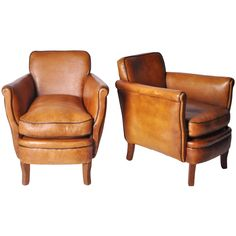 1stdibs | A pair of Leather Club Chairs