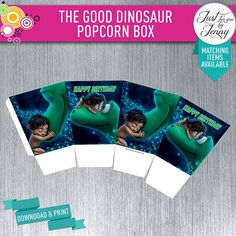 THE GOOD DINOSAUR Popcorn box - Instant Download Digital by JustForYouByJenny on Etsy