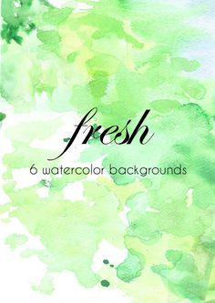 6 FREE WATERCOLOR BACKGROUNDS