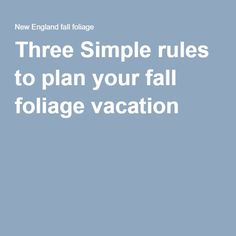 Three Simple rules t