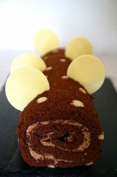 Brazo de gitano chocolate praliné/biscuit roulé ganache praliné
