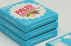 Paleo Chocolate \\ The Dieline \\ Designed by Morgan White, Australia for Hunted & Gathered ---- Absolutely love this design!