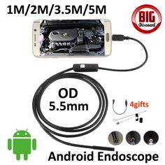 5.5mm Lens 5M Android USB Endoscope Camera 1M 2M 3.5M Flexible Cable Snake Tube Inspection OTG USB Borescope Pinhole Camera♦️ B E S T Online Marketplace - SaleVenue ♦️👉🏿 http://www.salevenue.co.uk/products/5-5mm-lens-5m-android-usb-endoscope-camera-1m-2m-3-5m-flexible-cable-snake-tube-inspection-otg-usb-borescope-pinhole-camera/ US $9.85