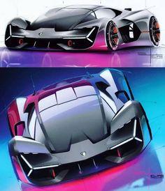 Automobile, Industrial Design Sketch, Fancy Cars, Supersport, Car Sketch, Transportation Design, Design Process, Concept Cars, Motor Car