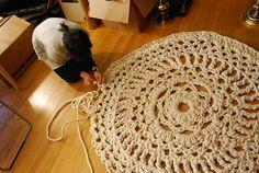 huge amazingface doily rug