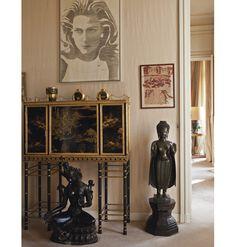Intérieur de l'hôtel particulier d'Hélène Rochas    Crédit photo : Christie's