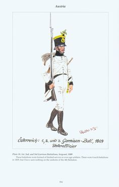 Austria: Plate 18. Garrison Battalions, Sergeant, 1809