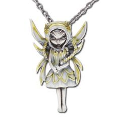 Silver & Gold Fairy Necklace Jasmine Becket-Griffith Strangeling Fearie Pendant
