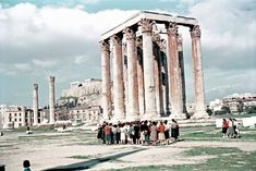 Billy Files: Έγχρωμες φωτογραφίες της Αθήνας του '50 Pisa, Athens, Louvre, Tower, Building, Pictures, Travel, Photos, Rook