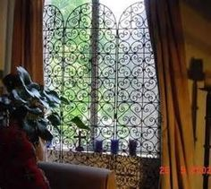 wrought iron room divider with panels - Bing images