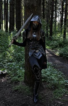 Skyrim cosplay, Nightingale by VolkaSonika.deviantart.com on @deviantART (M)