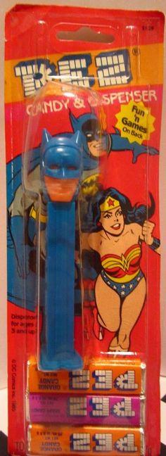 1985 RARE  BATMAN PEZ W PACKAGED MADE IN  SLOVENIA DC COMICS