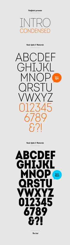Free Font Of The Day : Intro Condensed (Light & Black)