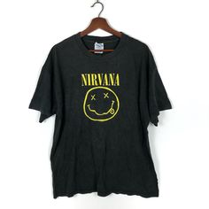 Vintage Nirvana T-Shirt Kurt Cobain Flower Sniffin Kitty Pettin Baby Kissin Corporate Rock Whores Tee Vintage Nirvana T Shirt, Vintage Band Tees, Rock Tees, Aztec Designs, Cute Sweaters, Kurt Cobain, Hippie Style, Crew Neck Sweatshirt, Stage