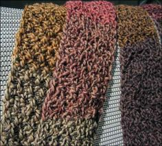 loom knitting stitches | loom knit double seed stitch scarf | loom knitting
