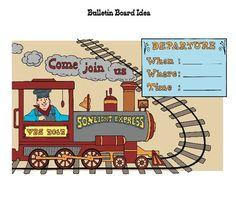 Train Bulletin Board Idea - from Director's Plan book page 63