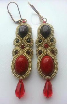 biżuteria soutache, haft koralikowy, torby z filcu: Noc Kairu II