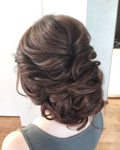 Looking for perfect wedding hairstyle? These Beautiful messy updo with braids wedding hairstyle inspiration perfect for elegant to boho brides...