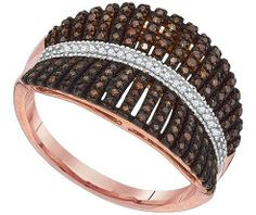 Diamond Micro-pave Ring in 10k Rose Gold 0.4 ctw - Rings - Jewelry at Viomart.com