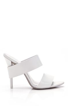 Alexander Wang Resort 2014 Trunkshow Peroxide Polished Calf Masha Sandal on Moda Operandi