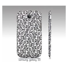 samsung galaxy S3 iphone4 4s 5 phone case by VintageChicImages ($35) ❤ liked on Polyvore