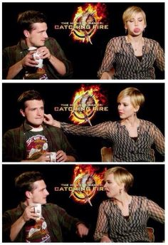 Jennifer Lawrence and Josh Hutcherson have the best relationship.  LOL