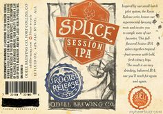 mybeerbuzz.com - Bringing Good Beers & Good People Together...: Odell Roots Release - Splice Session IPA